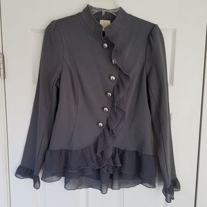 Gray Ruffled Jacket